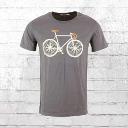 Greenbomb Herren T-Shirt Bike Two Guide anthrazit