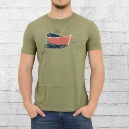Greenbomb Herren T-Shirt Nature Gone Fishing oliv