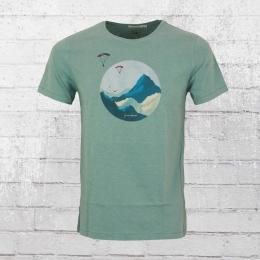 Greenbomb Herren T-Shirt Nature Sky Diver petrol türkis