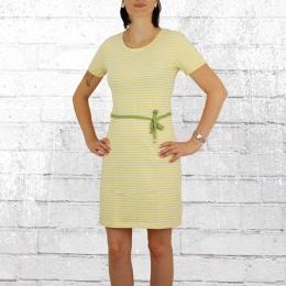 Greenbomb Kleid Basic Soft Dress gelb gestreift