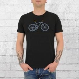 Greenbomb Männer Fahrrad T-Shirt Mountain Bike schwarz