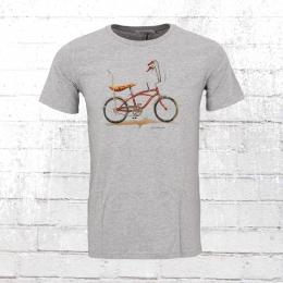Greenbomb Männer T-Shirt Bike Banana grau meliert