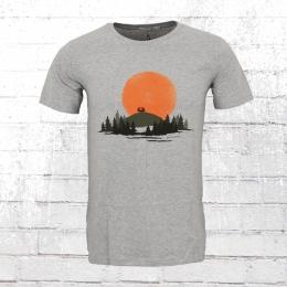 Greenbomb Männer T-Shirt Nature Caravan grau meliert