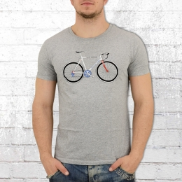 Greenbomb Rennrad Herren T-Shirt Bike Never Stop grau