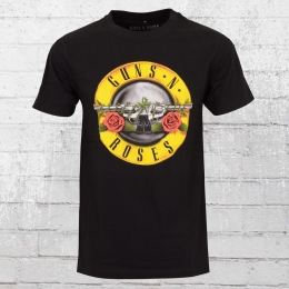 Merchcode Guns n Roses Herren Bandshirt Logo schwarz