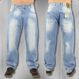 Viazoni Männer Jeans Hose Karotte Harry light denim