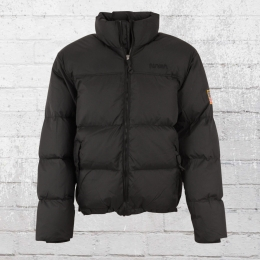 Herren Winter Jacke Nasa Two Toned Puffer schwarz