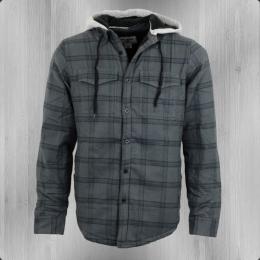 Billabong Holzfäller Hemd Jacke Gefüttert Hilltop grau