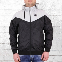 Hooligan Herren Windbreaker Trainer H schwarz grau