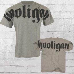 Hooligan Männer T-Shirt Hooligan FAT grau meliert