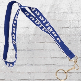 Hooligan Schlüsselband Lanyard blau weiss