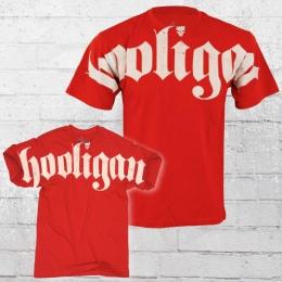 Hooligan Streetwear Herren T-Shirt FAT rot