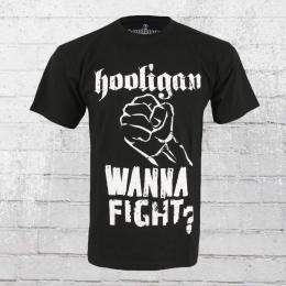 Hooligan Streetwear T-Shirt Männer Fist schwarz
