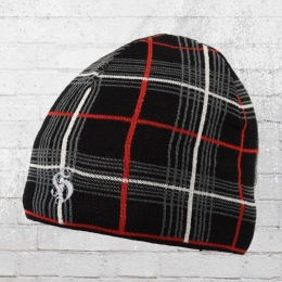 Hooligang Streetwear Mütze Scott Beanie schwarz kariert