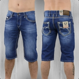 Viazoni Männer Jeans Short Hugo denim blue