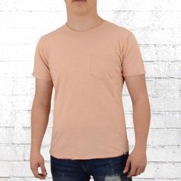 Indicode Blanko T-Shirt Mit Brusttasche Overland rose