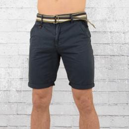 Indicode Chino Shorts Herren Royce blau