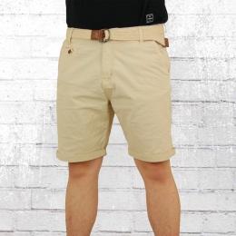 Indicode Chino Shorts Männer Conor beige