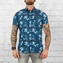 Indicode Hawaii Hemd Doddington blau