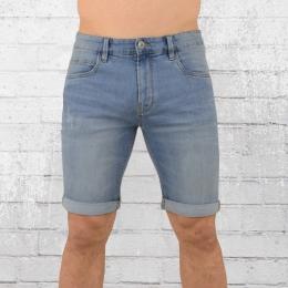 Indicode Herren Jeans Shorts Kaden hellblau