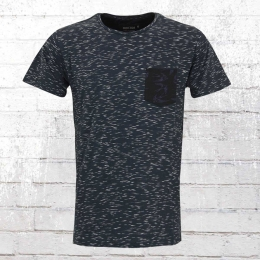 Indicode Herren T-Shirt Blaine blau