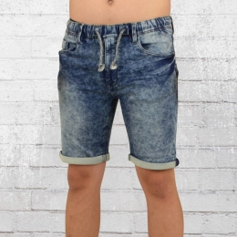 Indicode Jeans Jogger Short Kurze Männer Hose Kadin blau used