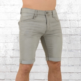 Indicode Jeans Short Herren Kaden grau