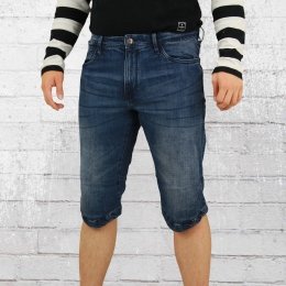Indicode Jeans Short Herren Kem blau used