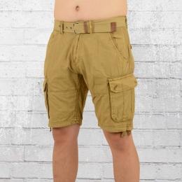 Indicode Männer Cargo Shorts Bolton beige