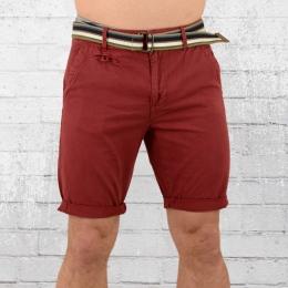 Indicode Männer Chino Shorts Royce rot