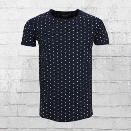 Indicode Männer T-Shirt Lorient blau