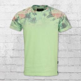 Indicode Männer T-Shirt Palencia pastel grün