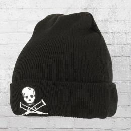 Jackass Beanie Skull Strickmütze schwarz