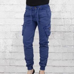 Jet Lag Frauen Cargo Hose L 03 blau