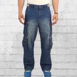 Jet Lag Herren Cargo Jeanshose 007 Denim blue