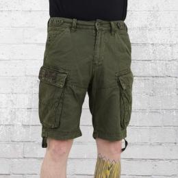 Jet Lag Herren Cargo Shorts SO16 21 oliv
