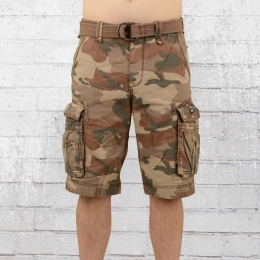 Jet Lag Herren Take Off 8 Cargo Short braun camo
