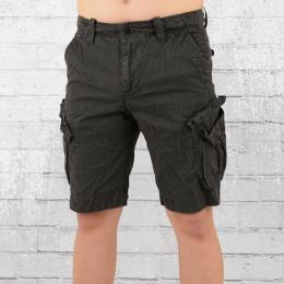 Jet Lag Hose Männer Cargo Shorts schwarz