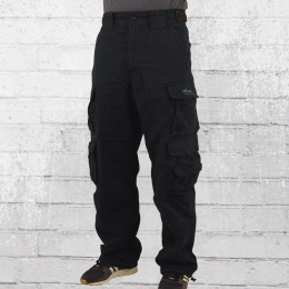 Jet Lag Mens Cargo Trouser 007 black Pocket Pants 4XL/34