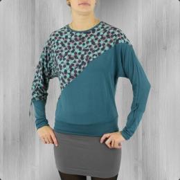 ATO Berlin Longsleeve Shirt Frauen Juna grey turquoise