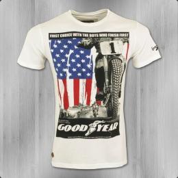 Goodyear Herren T-Shirt Kendallville cremeweiss