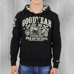 Goodyear Kapuzensweatshirt Hotrod Pelham Herren schwarz