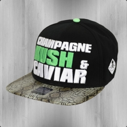 Chupacabra Kappe Kush Snapback Cap Kush schwarz reptile