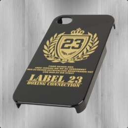 Label 23 Logo Smartphone Cover Handy Hülle für iPhone 4 schwarz