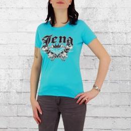 La Vida Loca Frauen T-Shirt Jena hellblau