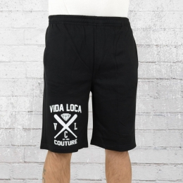 La Vida Loca Sweat Shorts Cross Couture schwarz