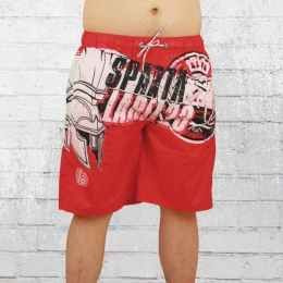 Label 23 Short Badehose Sparta rot