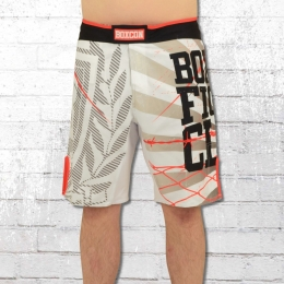 Label 23 Boardshort Fight Back Badehose weiss schwarz orange