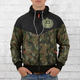Label 23 Boxing Camo Windjacke schwarz woodland