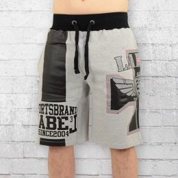 Label 23 Cross 23 Short kurze Jogginghose Herren hellgrau